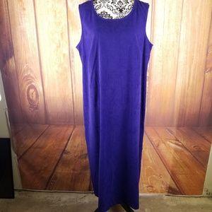 Jessica Howard Blue Suede Feel Maxi Dress